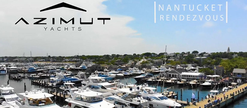 A bird's-eye view of the marina at the Azimut Nantucket Rendezvous