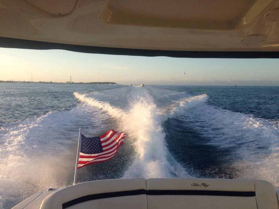 wake with american flag