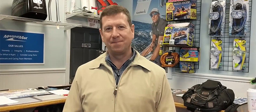 man standing in store