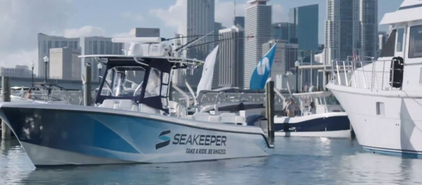 A Seakeeper boat in the water