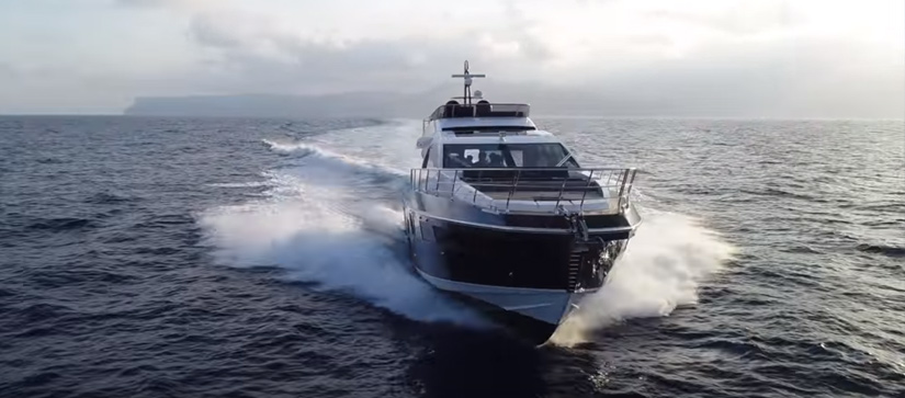 Azimut S7 yacht cruising through water