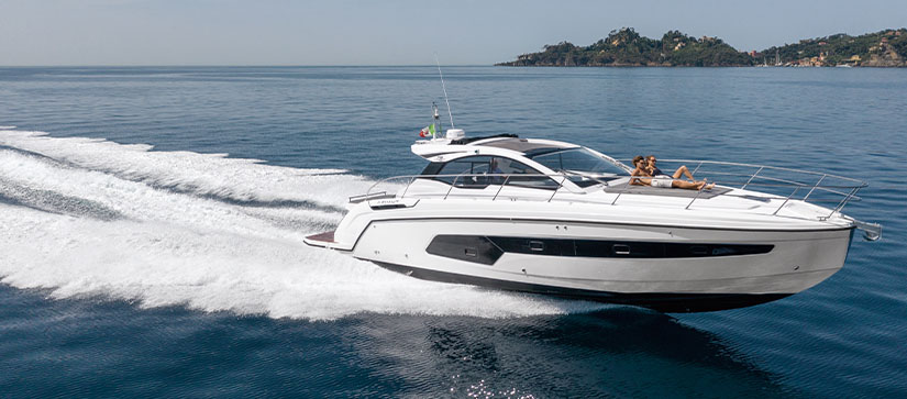 An Azimut A45 in the water