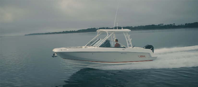 Boston Whaler boat cruising through the water