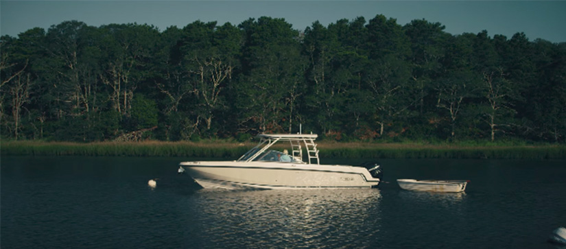 Boston Whaler boat on water