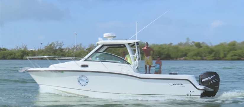 Customers on Boston Whaler