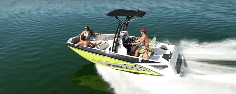 Boat cruising through the water - Scarab Jet Boats Open the Possibilities Video