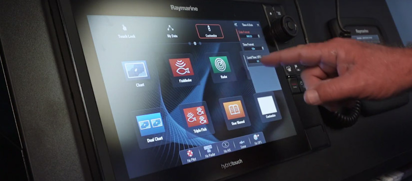 Find out how to setup your Raymarine navigation electronics.