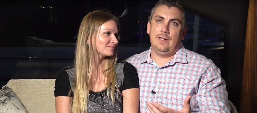 A couple talking - MarineMax Customers Share Their Experience