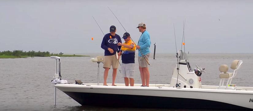 3 men on boat