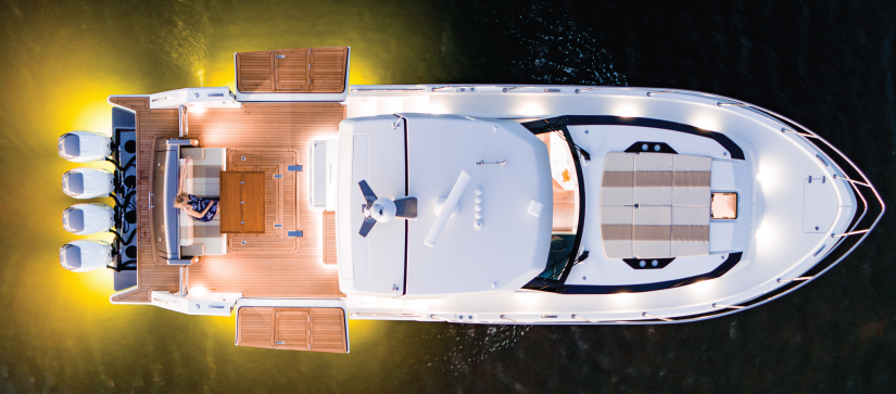 View of Ocean Alexander 45 Coupe from above