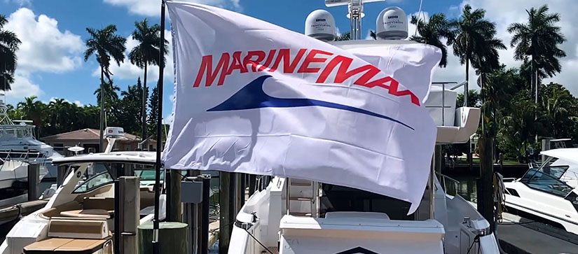 A MarineMax flag