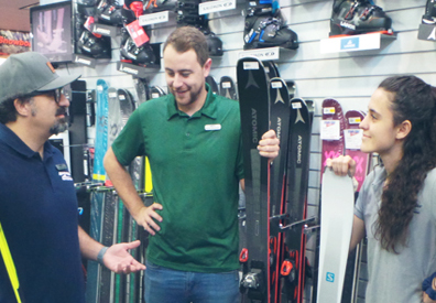 local snow ski experts discuss the features of new ski products