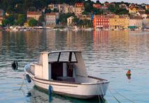 Boat in Croatian Harbor