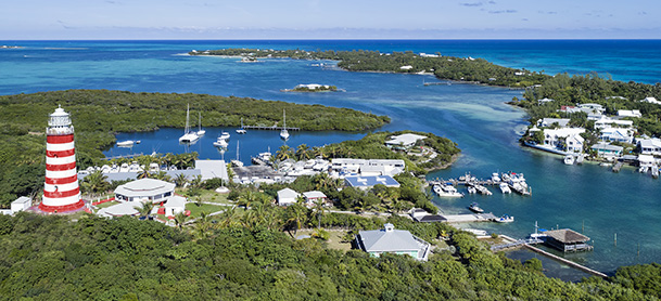 An overhead shot of the Abacos