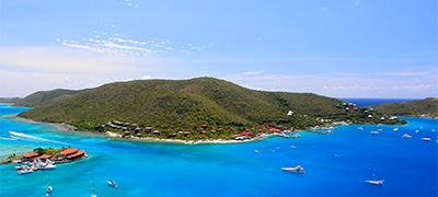 aerial view of British Virgin Islands