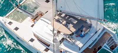 Sail chater at sea