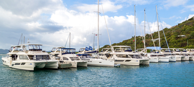 MarineMax Vacations Power Catamaran Fleet in the BVI