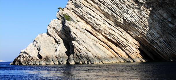 Cliffs over water in Croatia