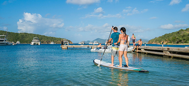 Couple on paddleboard in BVI