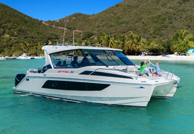 MarineMax 362 on the water