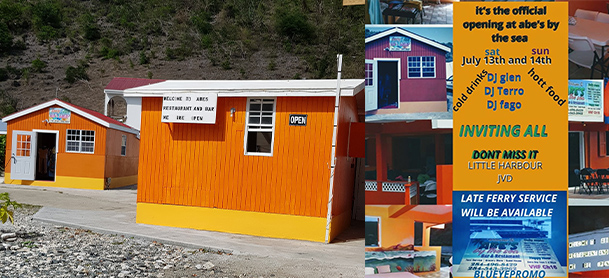 Abe's by the Sea restaurant and shop in the BVI