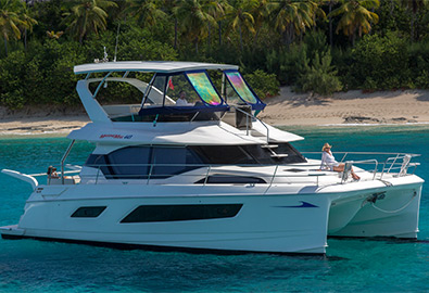 MarineMax 443 Power Catamaran on the water