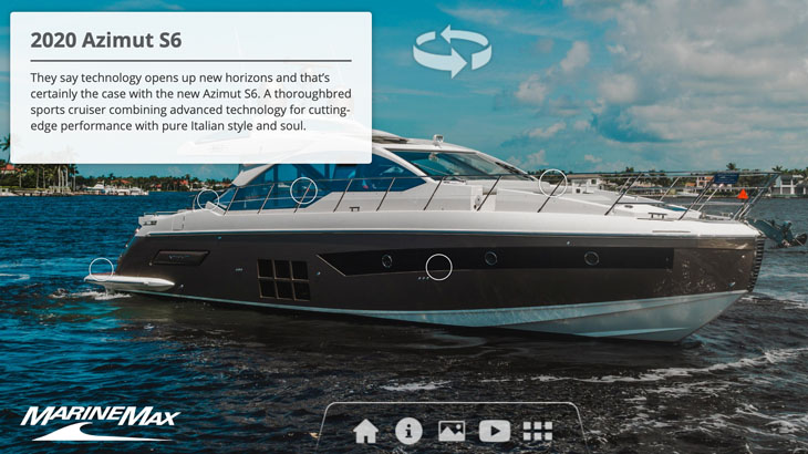 2020 Azimut S6 Immersive Experience yacht on the water