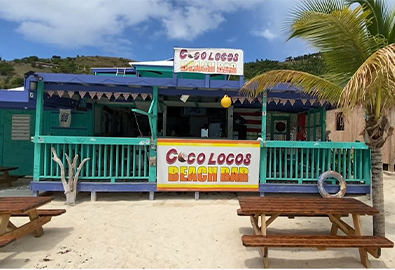 Coco Loco's Beach Bar in the British Virgin Islands