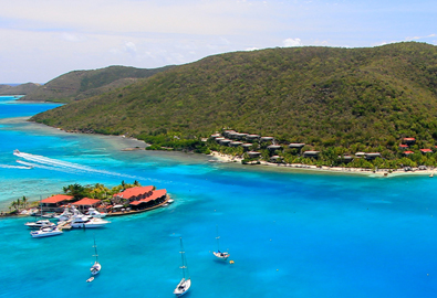 aerial view of the british virgin islands