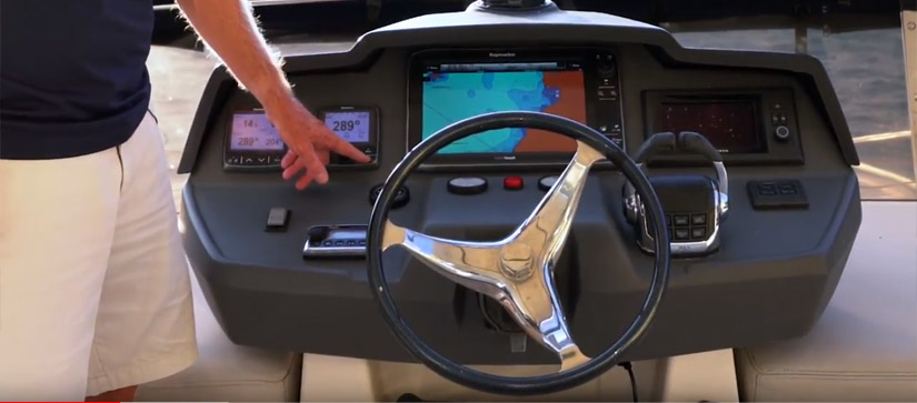 The Helm of a MarineMax 484