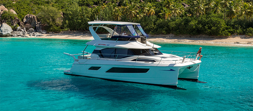Video tour of the MarineMax 443 Power Catamaran