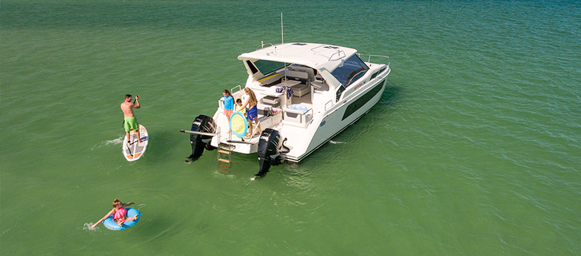 Family hanging out on the MarineMax Vacation 362