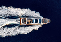 Azimut S6 yacht cruising deep blue water