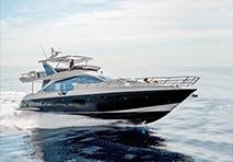 Azimut yacht cruising through water