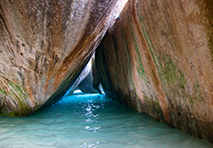 ocean caves in british virgin islands