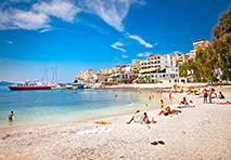 Beach scene in Montenegro