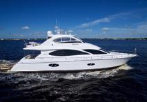 Lazzara yacht cruising through water