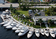 aerial view of marinemax yacht center