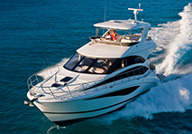 Meridian yacht cruising through water