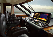 Helm station of Ocean Alexander Yacht