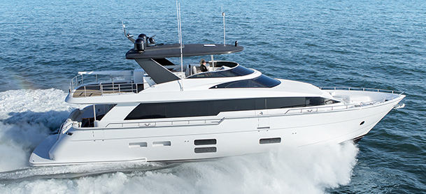 Yacht on open water