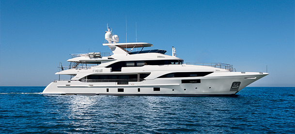 Profile view of Benetti Classic Supreme 132 yacht
