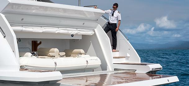 Concierge crew member on yacht