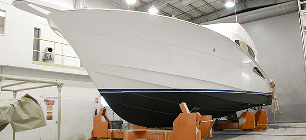 Yacht being built