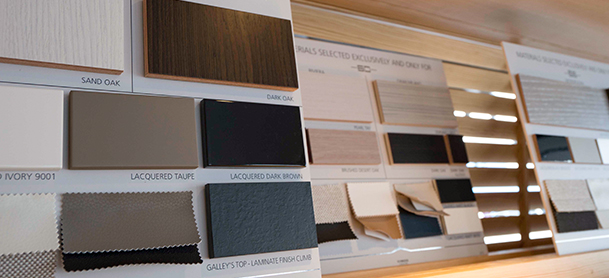 A variety of laminates in different colors to be selected