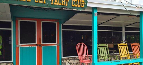Front of yacht club