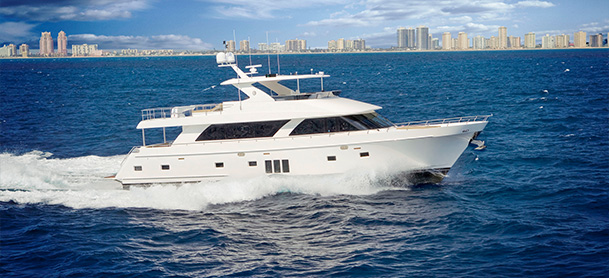 Ocean Alexander 85 motoryacht cruising through the water