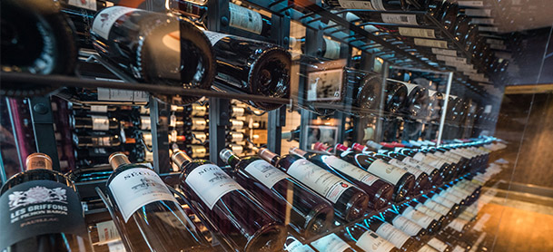 bottles of wine in cellar