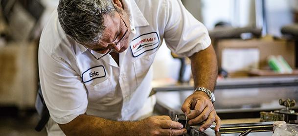 MarineMax certified technician working on repairs