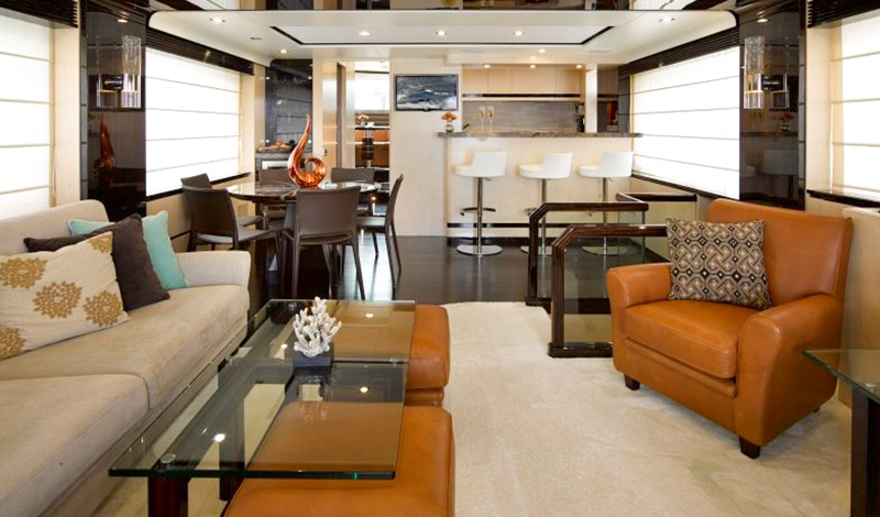 Yacht loung area